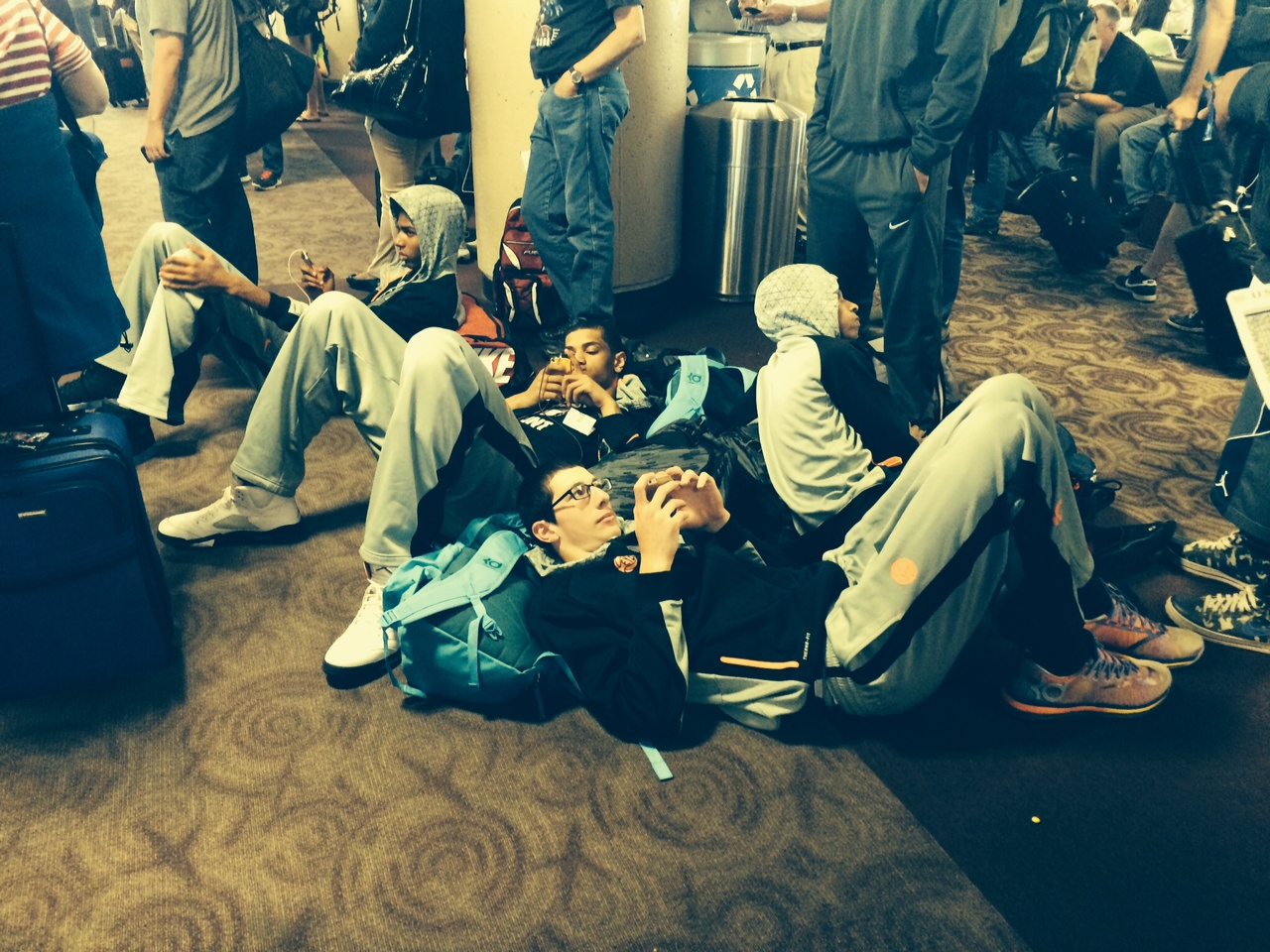 Laying in Airports