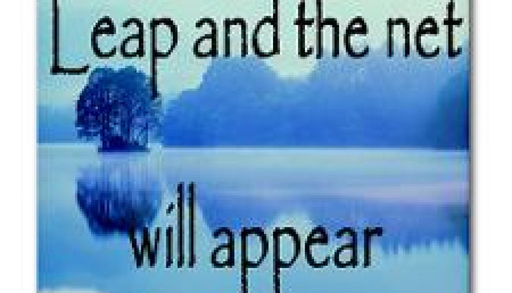 Leap and the net will appear