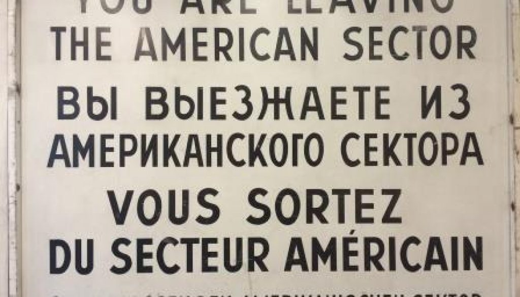 Sign at Checkpoint Charlie