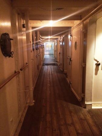 Ship's hallway