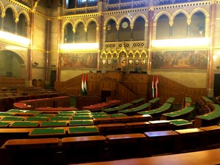 Hungary - St. Stephens Parliament Voting room