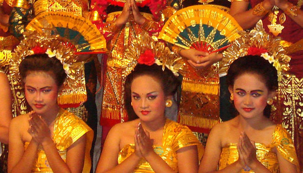http://commons.wikimedia.org/wiki/File:Balinese_dancers.jpg#/media/File:Balinese_dancers.jpg