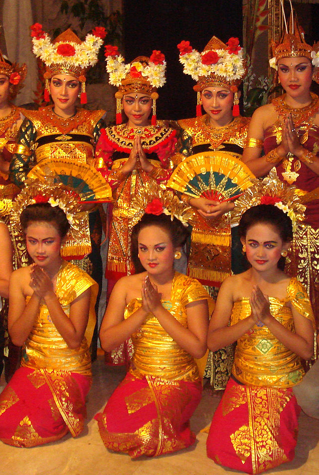 http://commons.wikimedia.org/wiki/File:Balinese_dancers.jpg#/media/File:Balinese_dancers.jpg