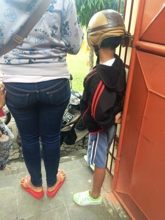 Kid with Helmet
