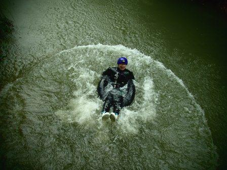 Jumping in River