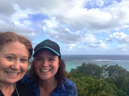 Australia - LHI - Carole and Kira Hiking