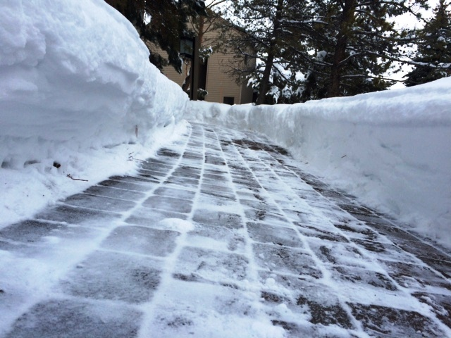 Walkway with snow