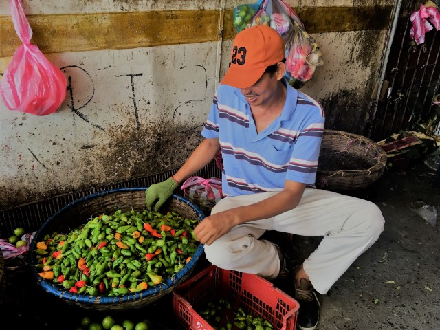 Vendor Selling Peppers