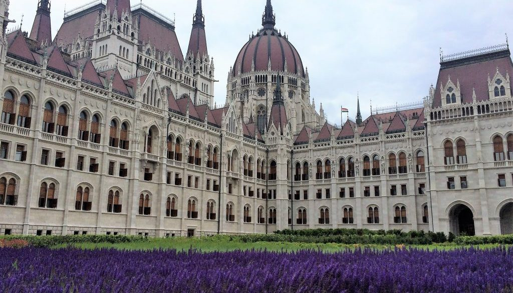 Budapest - Parliament with flowers