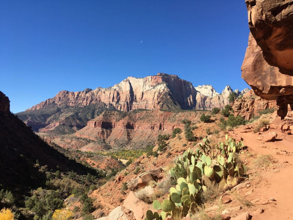 Zion Mountains Moon