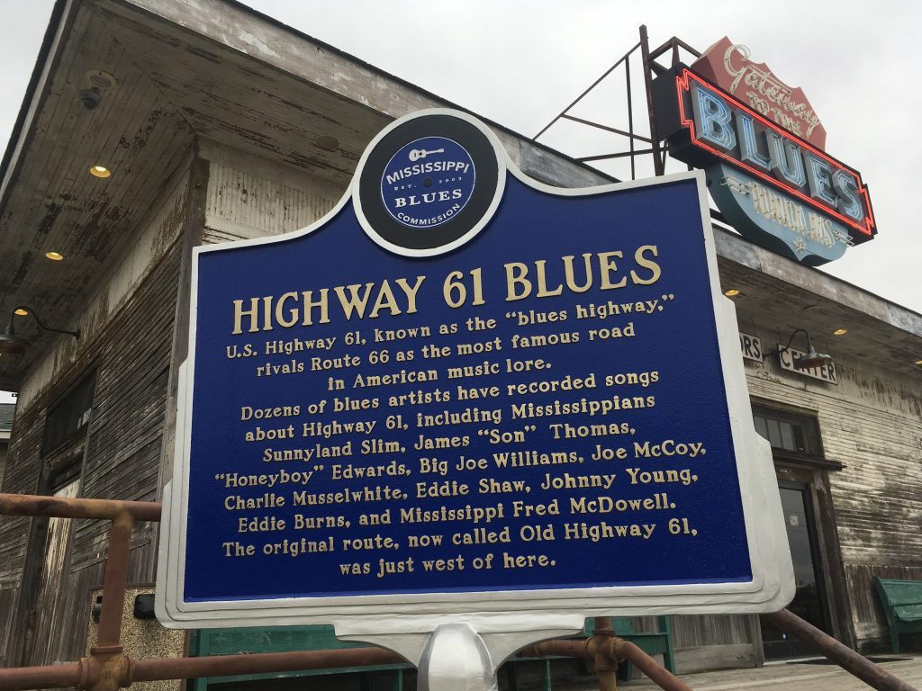 Highway to the Blues Sign